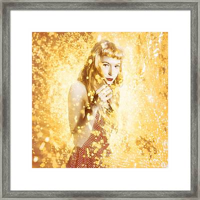 Magical Pinup Beauty Framed Print by Jorgo Photography - Wall Art Gallery