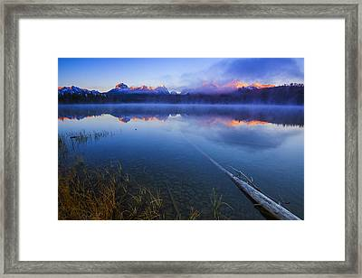 Magical Sunrise Along Sawtooth Mountain Range Stanley Idaho Framed Print by Vishwanath Bhat