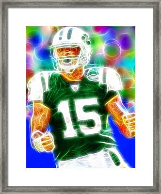 Magical Tim Tebow Framed Print by Paul Van Scott