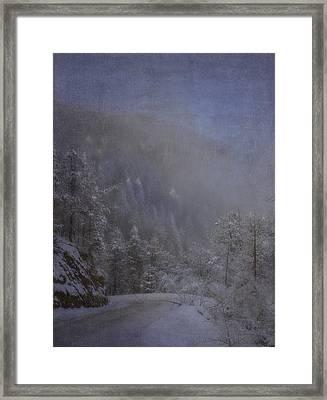 Magical Winter Day Framed Print by Ellen Heaverlo