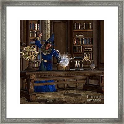 Magician Framed Print by Corey Ford
