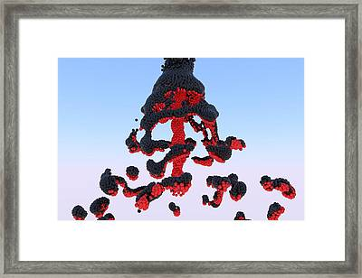 Magma Framed Print by Andre Deherrera