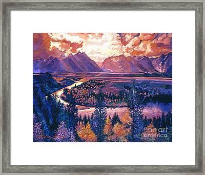 Magnificent Grand Tetons Framed Print by David Lloyd Glover