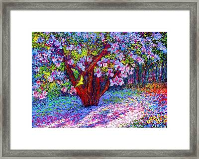 Magnolia Melody Framed Print by Jane Small