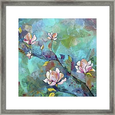 Magnolias Framed Print by Shadia
