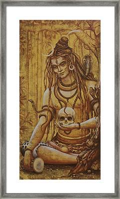 Mahadev. Shiva Framed Print by Vrindavan Das