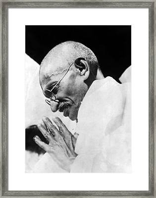 Mahatma Gandhi Following His Release Framed Print by Everett