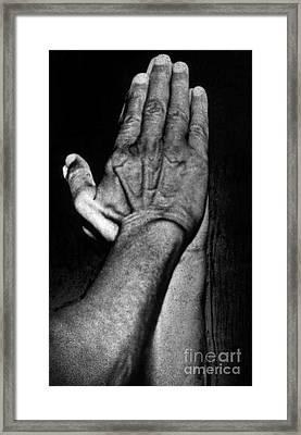 Mahatma Gandhi In Greeting Pose Framed Print by Indian School