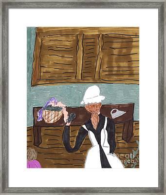 Maid In A Castle Framed Print by Elinor Rakowski