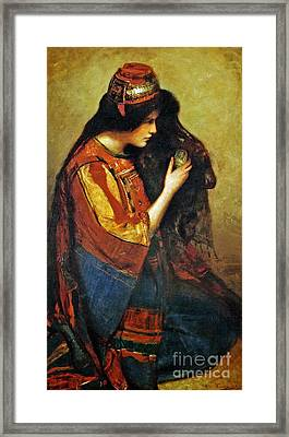 Maid Of Bethany Framed Print by George William