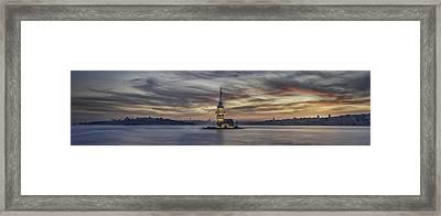 Maiden Tower Framed Print by Rilind Hoxha