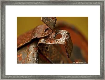 Mail Box Latch Framed Print by Wilma  Birdwell