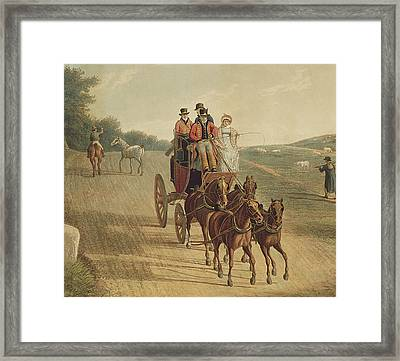 Mail Coach Framed Print by Frederick Christian Lewis