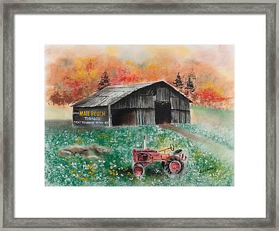 Mail Pouch Barn West Virginia 3 Framed Print by Paul Cubeta