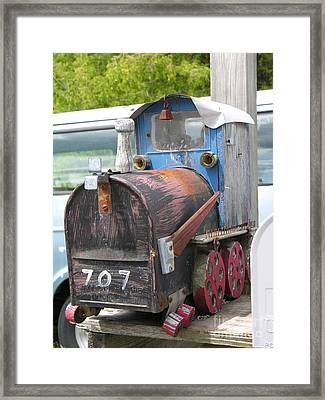 Mail Truck Framed Print by Diane Greco-Lesser