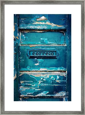 Mailbox Blue Framed Print by Carlos Caetano