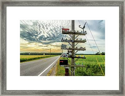 Mailbox Humor Framed Print by Brian Wallace