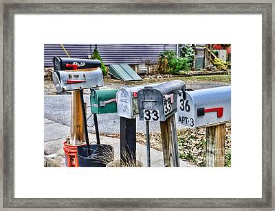 Mailboxes Framed Print by Paul Ward