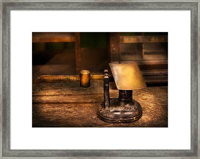 Mailman - The Mail Scale Framed Print by Mike Savad