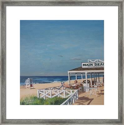 Main Beach East Hampton Framed Print by Donna Rollins