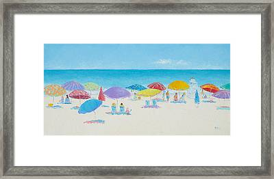 Main Beach East Hampton  Framed Print by Jan Matson