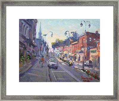 Main St Georgetown Downtown  Framed Print by Ylli Haruni
