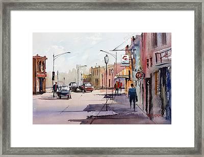 Main Street - Wautoma Framed Print by Ryan Radke