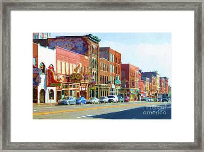 Main Street Nashville, Tennessee Framed Print by Garland Johnson
