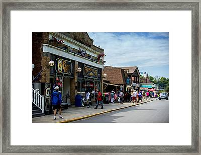 Main Street Put-in-bay Framed Print by Kevin Cable