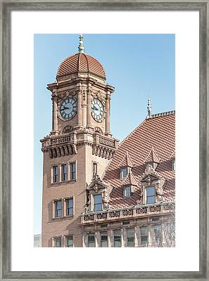 Print featuring the photograph main street tower by aaron dishner