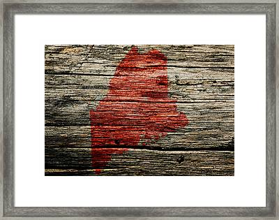 Maine 1w Framed Print by Brian Reaves