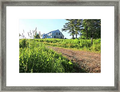 Maine House Framed Print by Laurie Breton