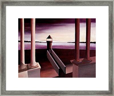 Maine Lighthouse At Dawn Framed Print by Ted Hess