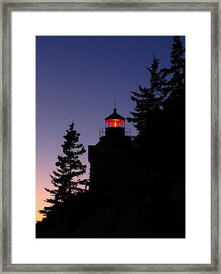 Maine Lighthouse Framed Print by Juergen Roth