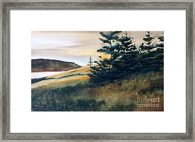 Maine Sunrise Framed Print by Karol Wyckoff