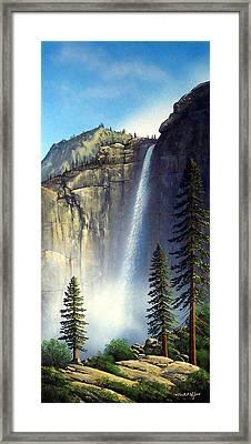 Majestic Falls Framed Print by Frank Wilson