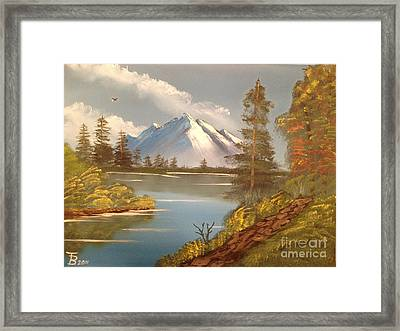Majestic Mountain Lake Framed Print by Tim Blankenship