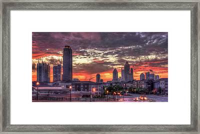 Majestic Sunrise Midtown Atlanta Framed Print by Reid Callaway