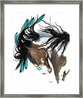 Majestic Turquoise Framed Print by AmyLyn Bihrle