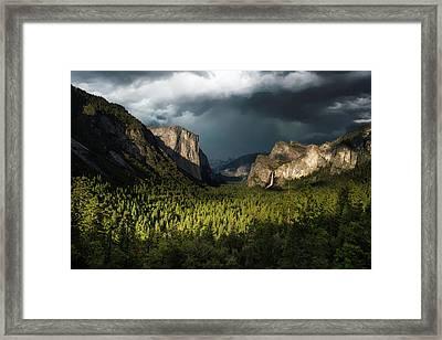 Majestic Yosemite National Park Framed Print by Larry Marshall