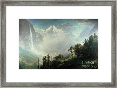 Majesty Of The Mountains Framed Print by Albert Bierstadt