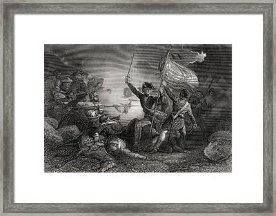 Major Dix At The Battle Of Buena Vista Framed Print by Vintage Design Pics