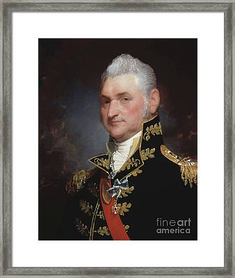 Major General Henry Dearborn Framed Print by Gilbert Stuart