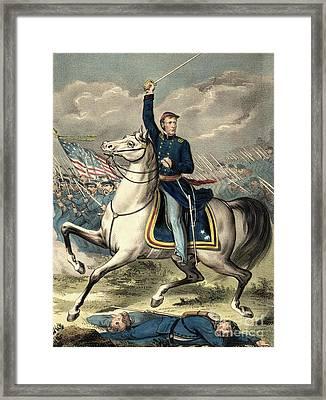 Major General Joseph Hooker Framed Print by American School