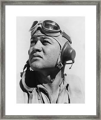 Major Gregory Pappy Boyington Framed Print by Everett