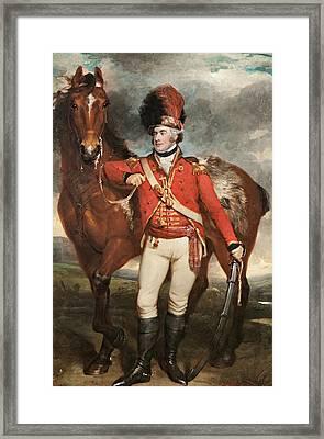 Major O'shea Of The Loyal Cork Legion Framed Print by Martin Archer Shee