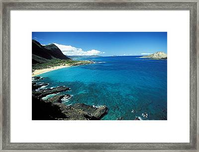 Makapuu Beach Park Framed Print by Peter French - Printscapes