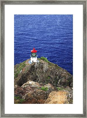 Makapuu Lighthouse II Framed Print by Brandon Tabiolo - Printscapes