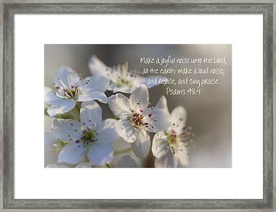 Make A Joyful Noise Unto The Lord Framed Print by Kathy Clark