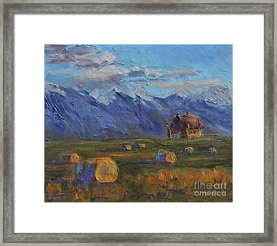 Make Hay While The Sun Shines Framed Print by Linda Mooney